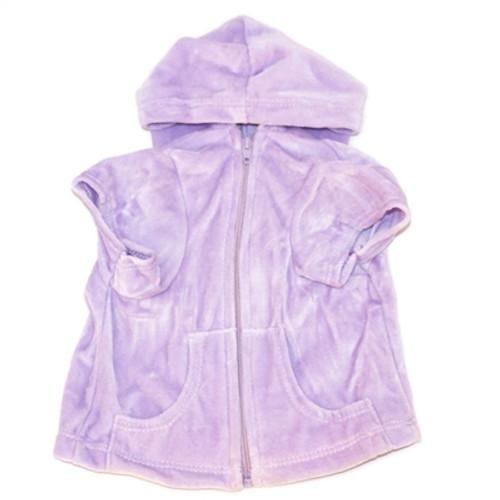 Lilac Velour Hoodie Front Zip