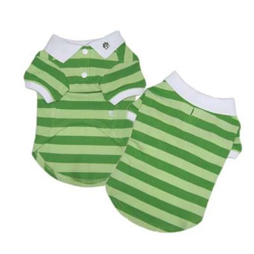 Stripe Polo Shirt Green