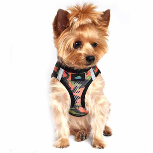 American River Dog Harness Camouflage Collection - Orange Camo