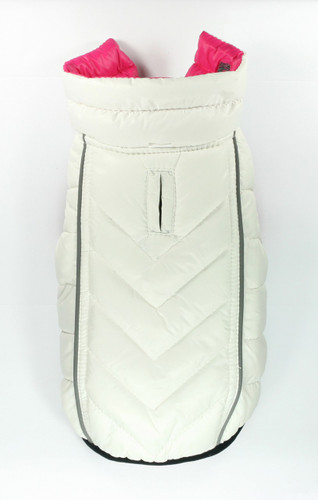 Featherlite Reversible-Reflective Puffer Vest Pink/White