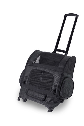 Black Geometric RC1000 Roller-Carrier for Pets up to 10lbs.