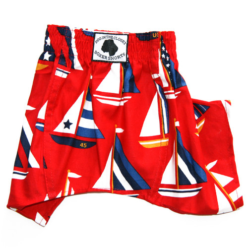 Boxer Shorts for Dogs - Sailboats