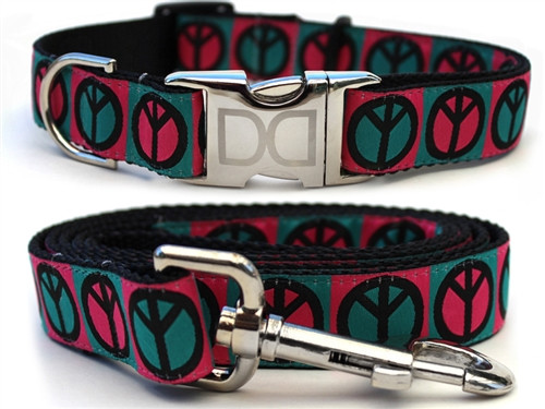 Hippie Hound Teal and Pink Set - All Metal Buckles