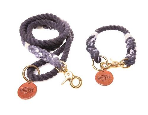 Charcoal Ombré Dog Collar