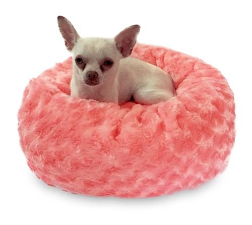 Coral Rosebud Crispy Crème Donut Bed