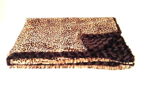 Reversible Cheetah Luxurious Fur Throw