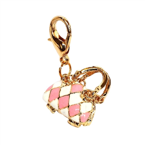 Fashionista Purse Clip on Collar Charms