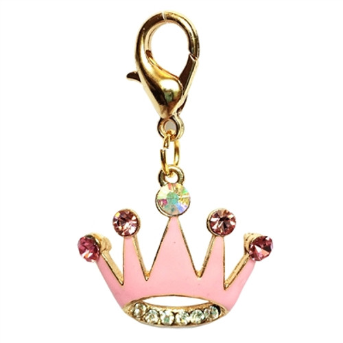 Princess Crown Clip on Collar Charms