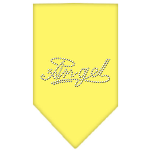Angel Rhinestone Bandana - Yellow