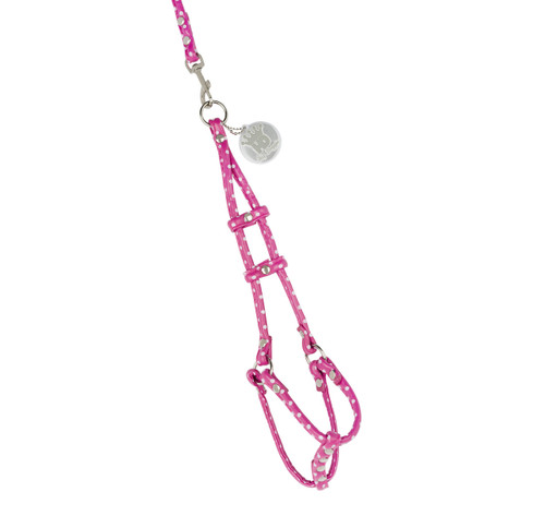 Pink Polka Dots Dog Step-in Harness