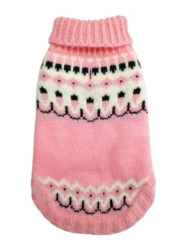 Icelandic Pink Winter Dog Sweater