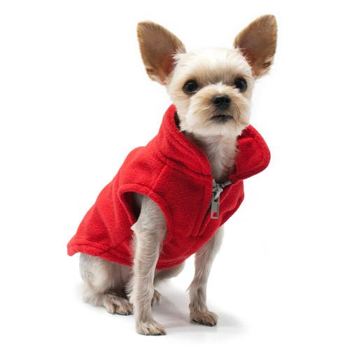 PP Essential Fleece Vest - Red