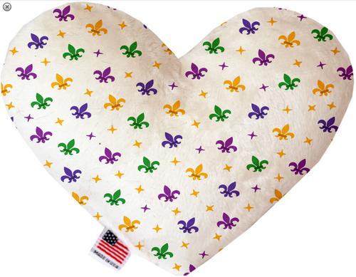 Confetti Fleur de Lis Mardi Gras Heart Dog Toy
