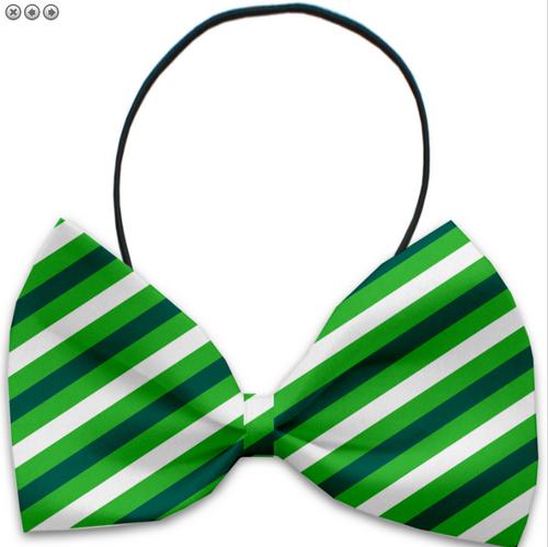 St. Patrick's Stripes Pet Bow Tie