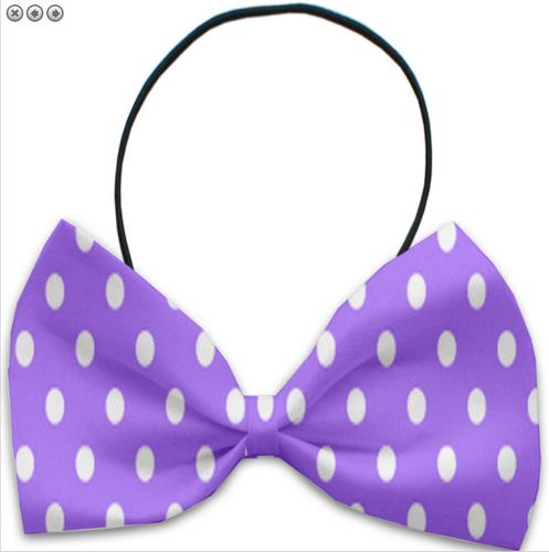 Purple Polka Dots Pet Bow Tie