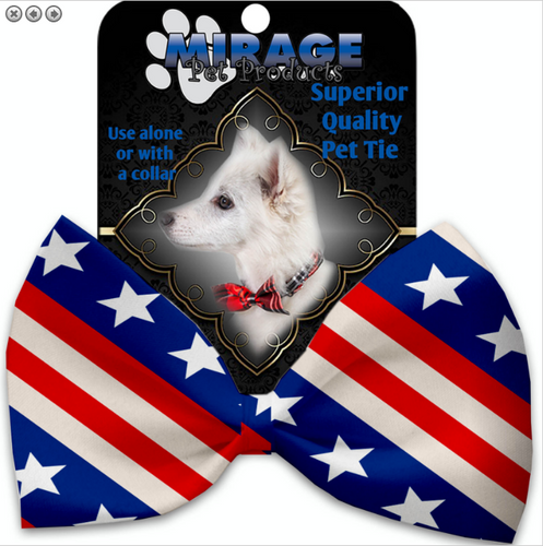 Stars and Stripes Pet Bow Tie