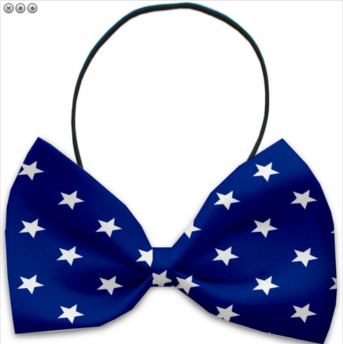 Blue Stars Pet Bow Tie