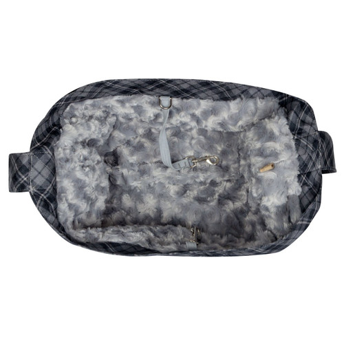 Scotty Furberry Charcoal Plaid Cuddle Carrier 2