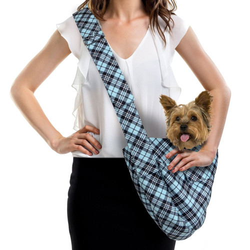 Scotty Furberry Tiffinye Blue Plaid Cuddle Carrier