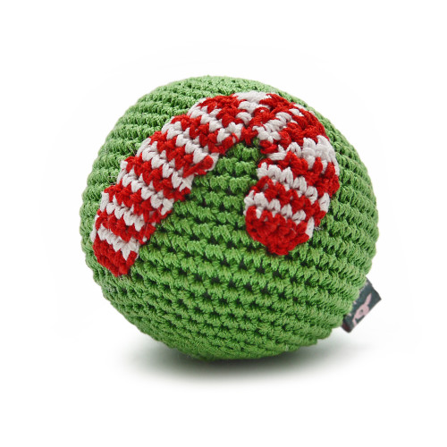 Candy Cane Christmas Ball Toy 2