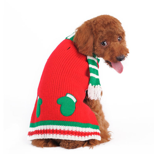 Christmas Mitten Scarf Sweater