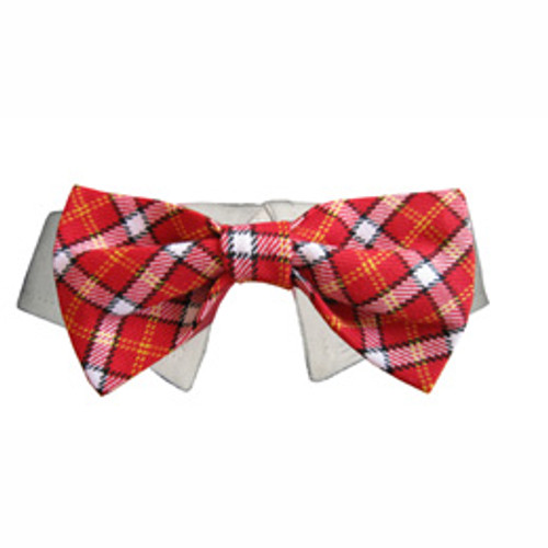 Pooch Outfitters Bow Tie Collar - Red Checker