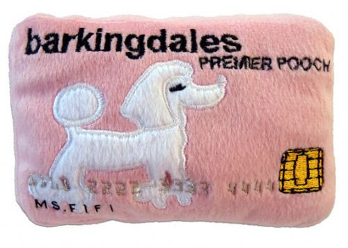 Dog Diggin Designs Barkingdales Credit Card Plush Toy