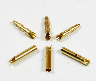Bullet Connectors 2MM Gold Plated -3 Pairs-