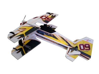 "TH 30"" EPP Crack Pitts M12 Biplane Yellow"