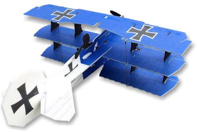 """TH 35"""" EPP Crack Fokker Dr.1 Tri - Blue"""