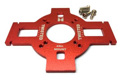 "TMW 43"" Veloxity/Edge XL Alum Motor Mount - RED -"