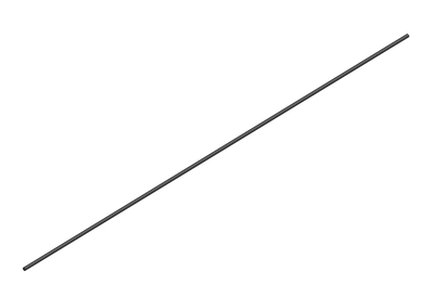 RcF Carbon Fiber Short Rod 2.0mm x 265mm