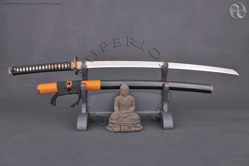 ryu-jin, clay, tempered, clay-tempered, folded, hand, forged, handforged, hand-forged, samurai, sword, katana, japanese, handmade, 1095, carbon steel,