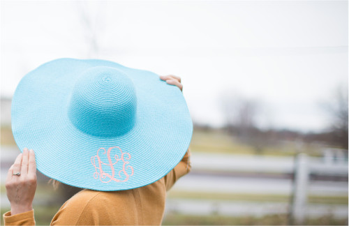 Floppy Sun Hat - Aqua