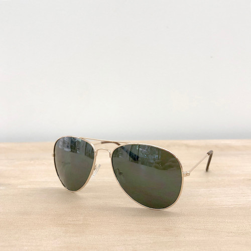 Tyndall Aviator Sunglasses - Gold & Green
