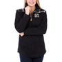 Black Evie Pullover - White & Black Plaid
