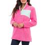 Aspen Sherpa Patch Pullover - Pink & Mint