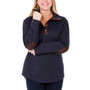 Harley Quilted Pullover - Navy & Chocolate