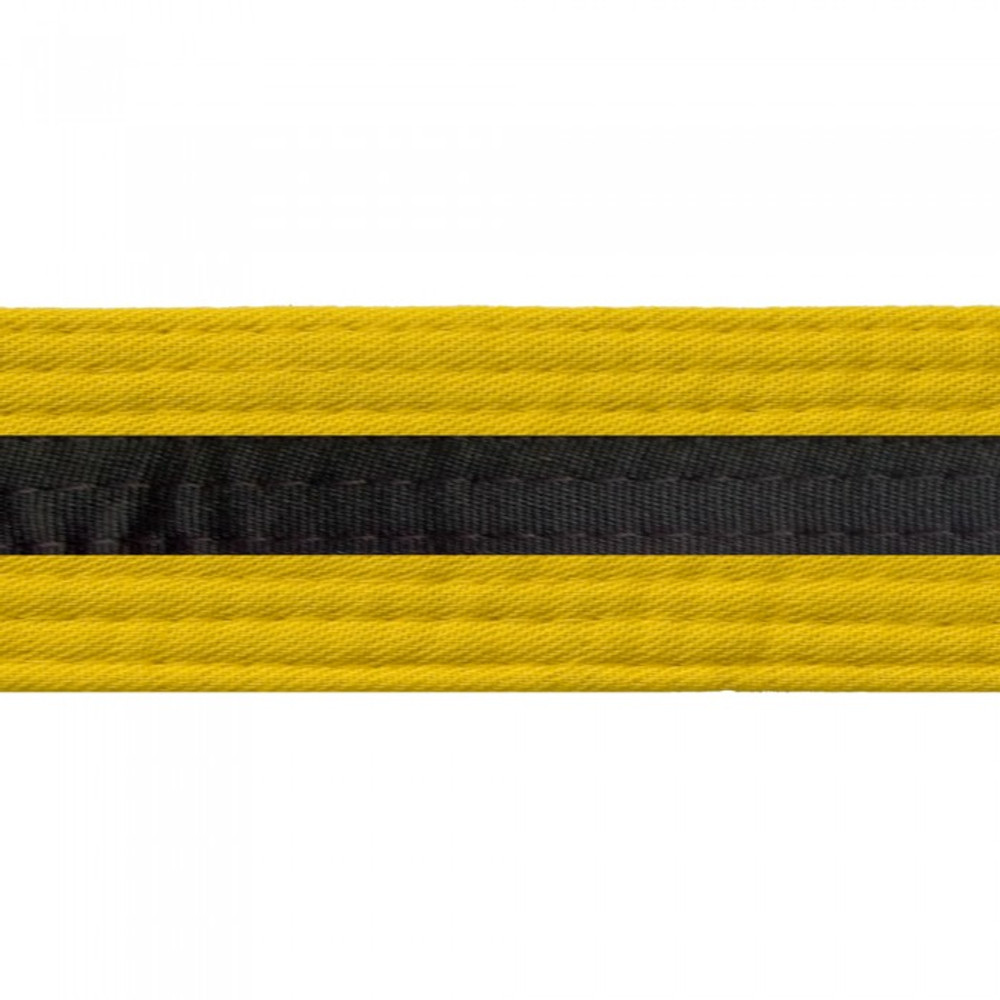 Black Striped Colored Belt