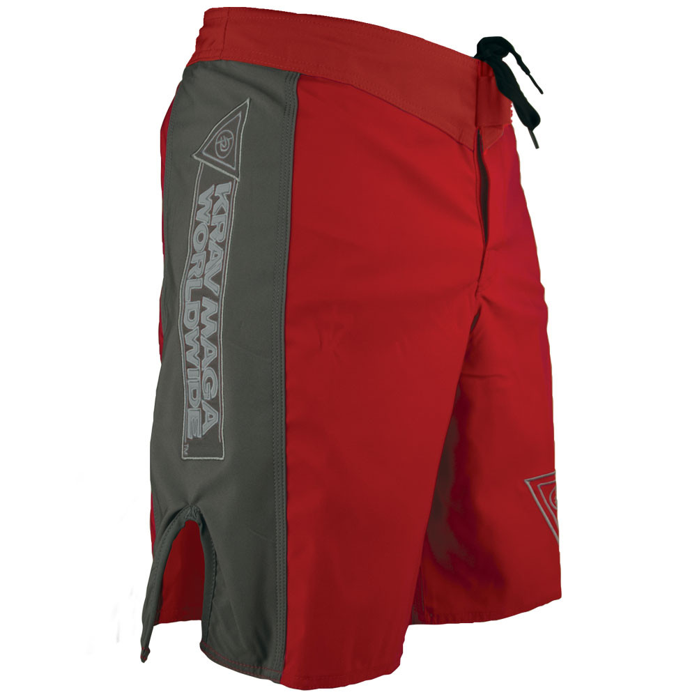Krav Maga Fight Short - Red/Grey