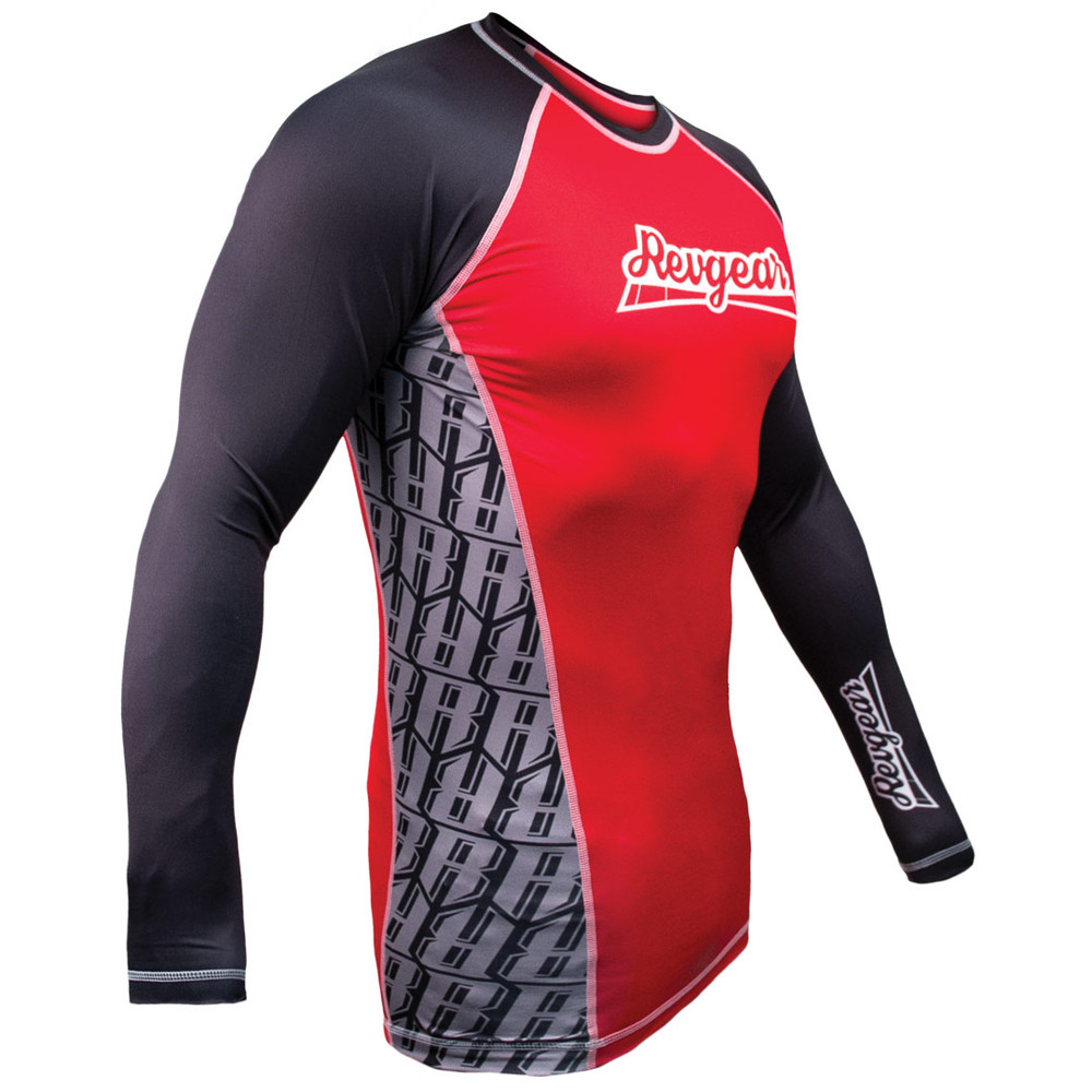 The Shield Long Sleeve Rash Guard - Red