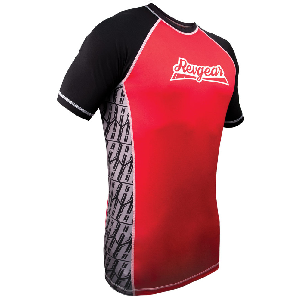 The Shield Short Sleeve Rash Guard - Red