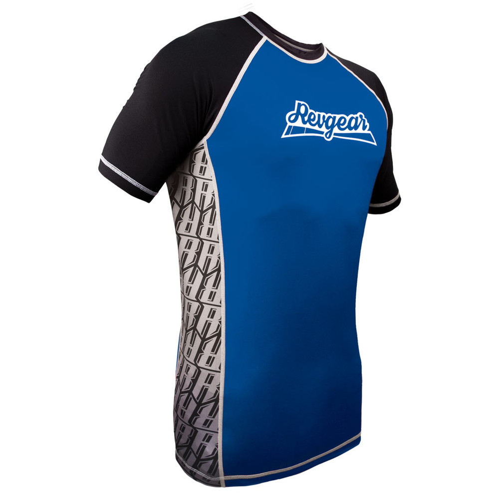The Shield Short Sleeve Rash Guard - Blue