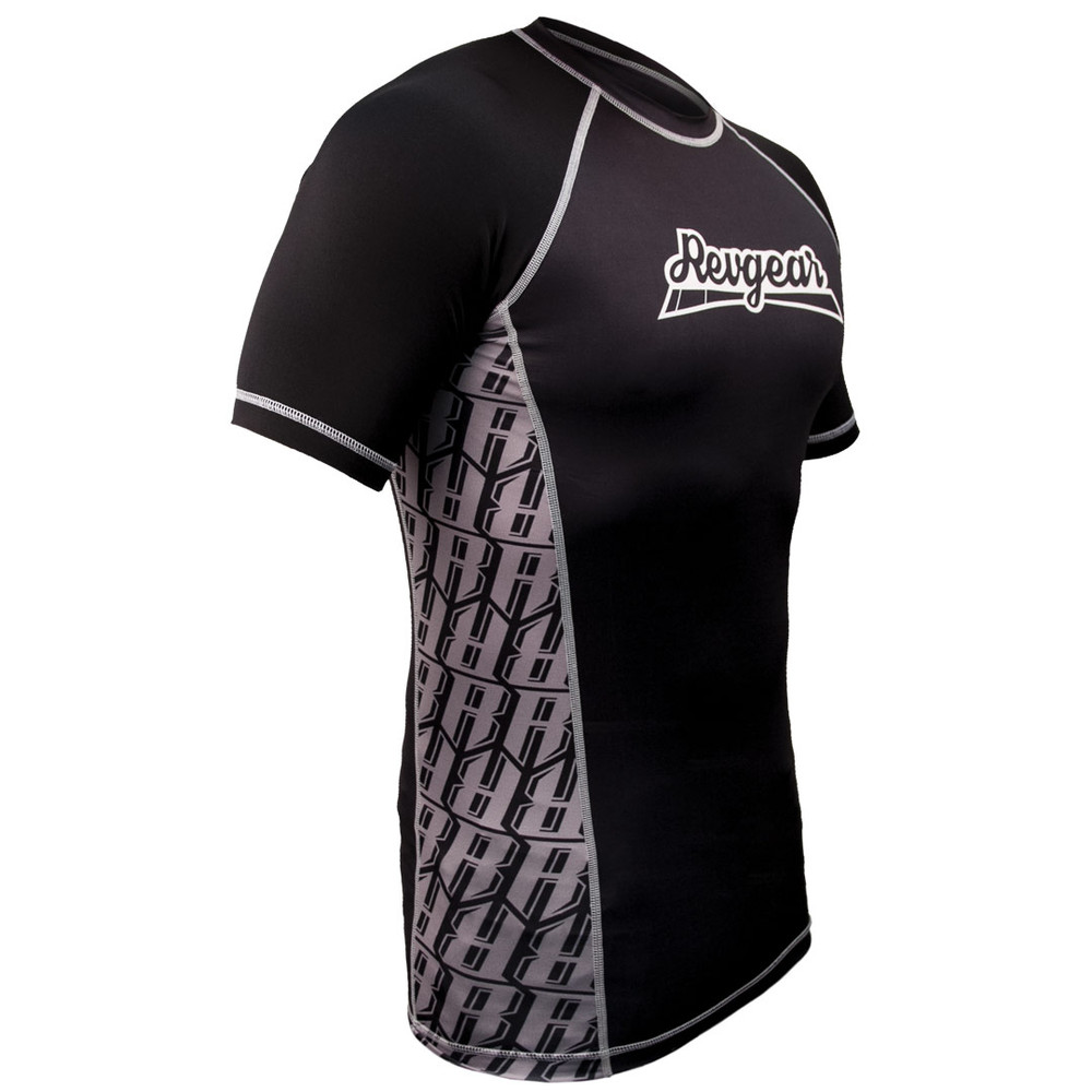The Shield Short Sleeve Rash Guard - Black