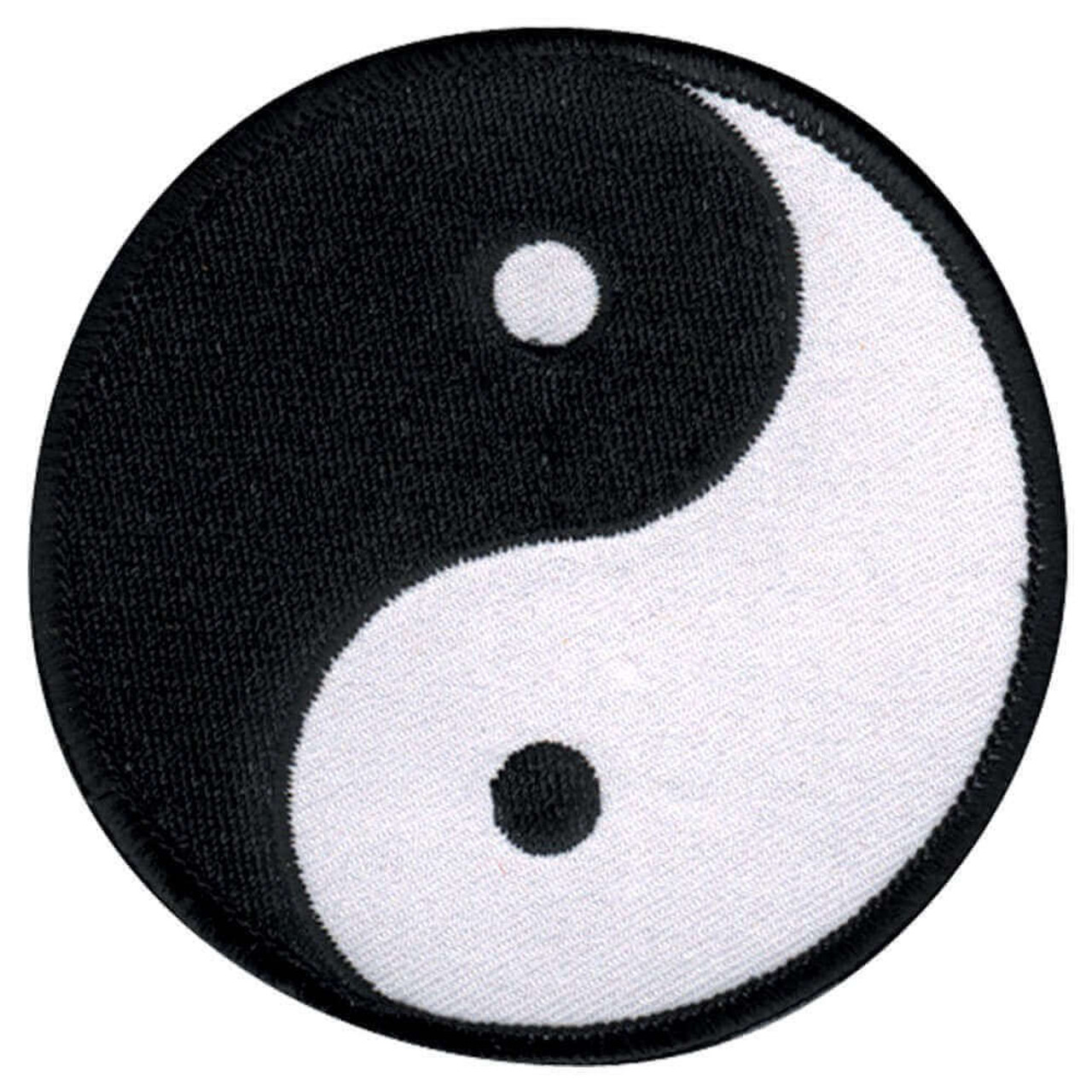 Ying Yang Round Patch