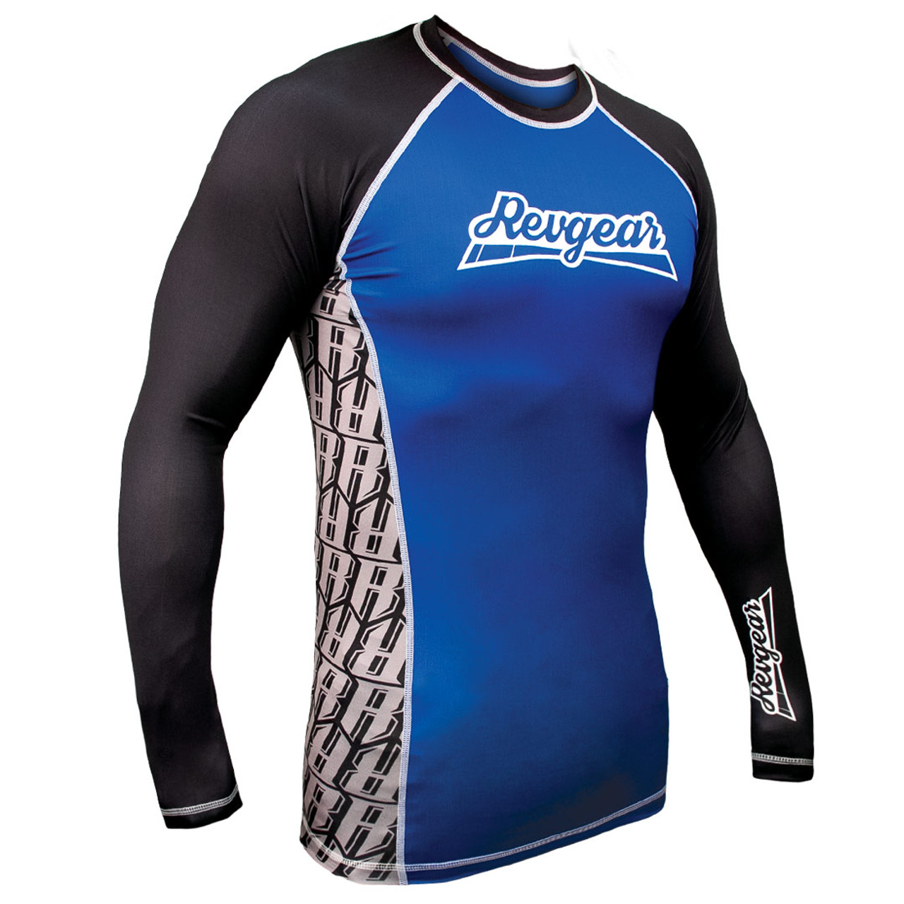 The Shield Long Sleeve Rash Guard - Blue