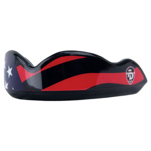 Fightdentist Boil & Bite Mouth Guard - Stars & Stripes - Black