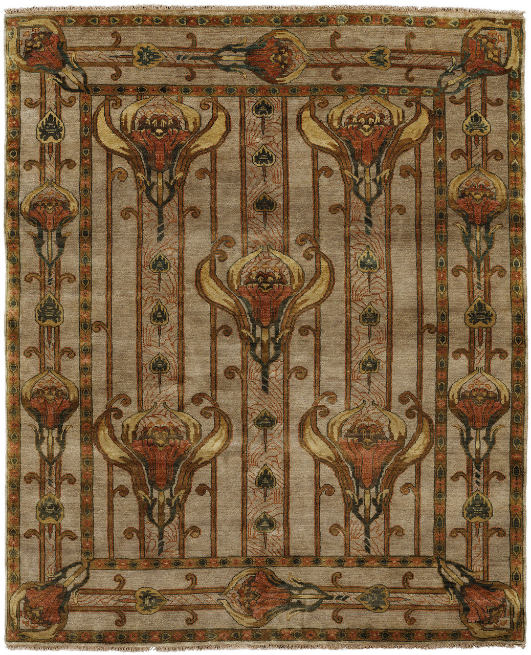 Field Lilies Rug Pc 56a The Mission Motif