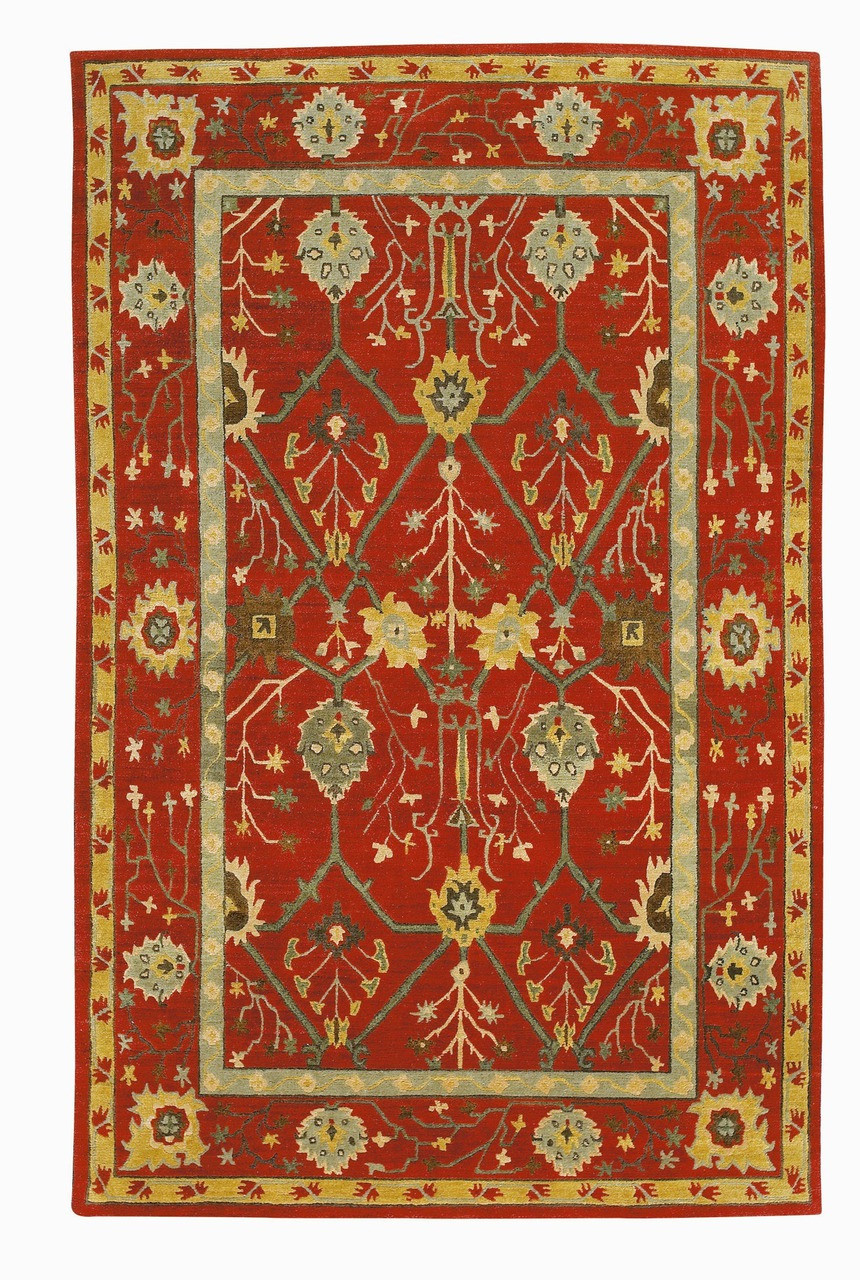Craftsman Palmette Trellis Ruby Rug The Mission Motif