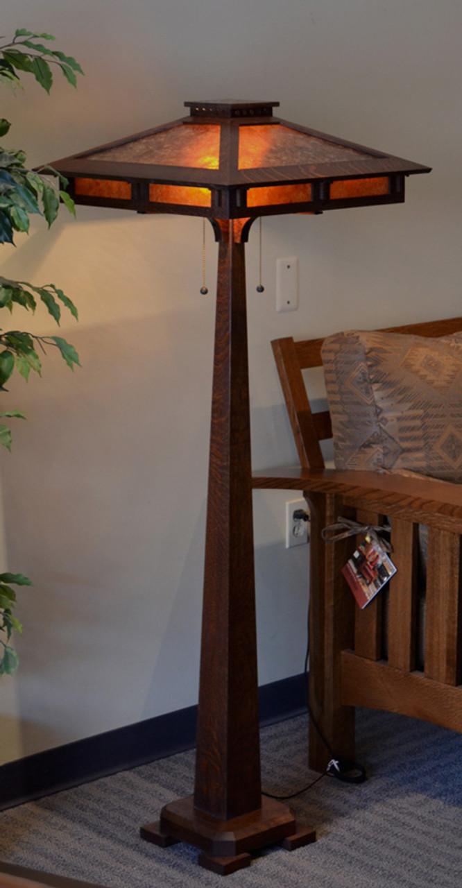 Craftsman prairie mica floor lamp the mission motif craftsman prairie floor lamp aloadofball Gallery